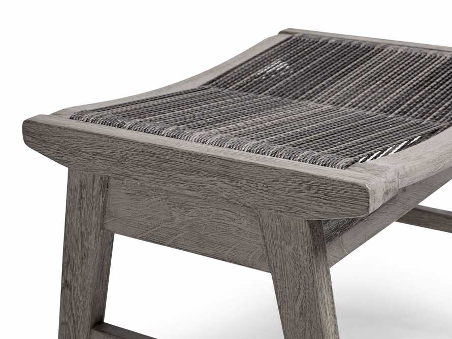 """Tulum 24"""" Dining Stool in Driftwood Grey/Charcoal, slide 5 of 6"""