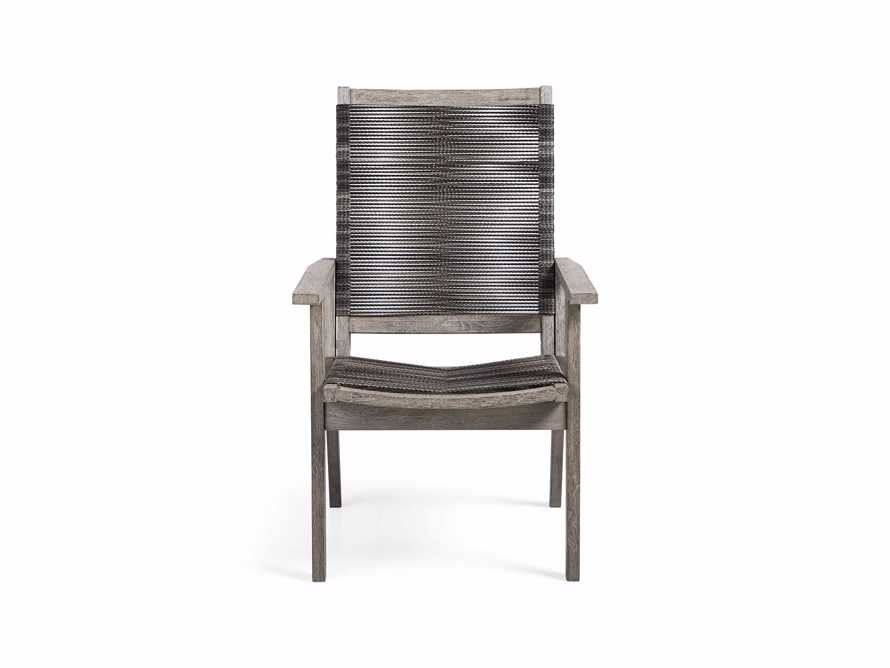 "Tulum Outdoor 26"" Dining Arm Chair in Charcoal, slide 3 of 9"