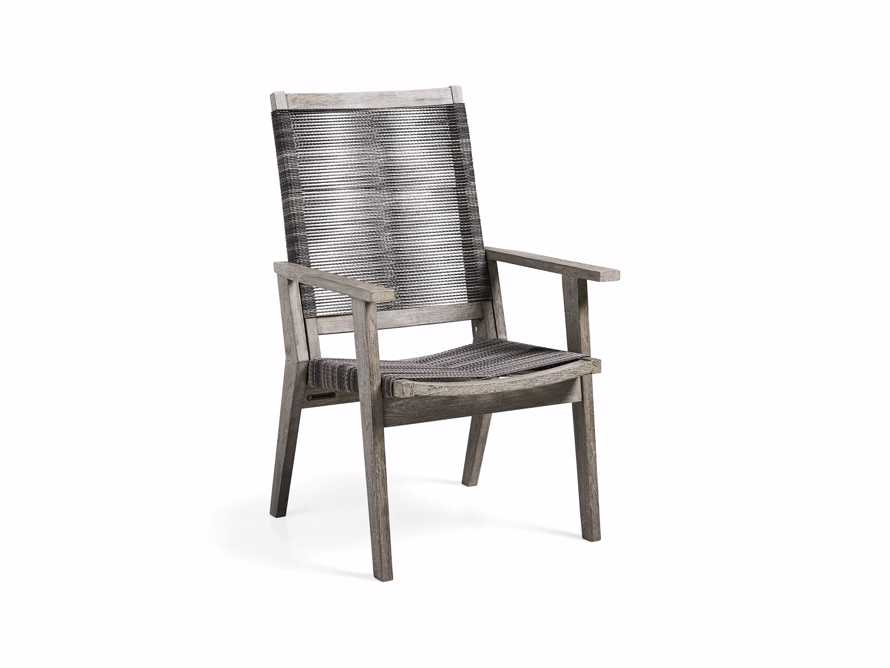 "Tulum Outdoor 26"" Dining Arm Chair in Charcoal, slide 4 of 9"