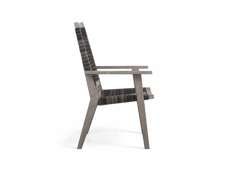 "Tulum Outdoor 26"" Dining Arm Chair in Charcoal, slide 5 of 9"
