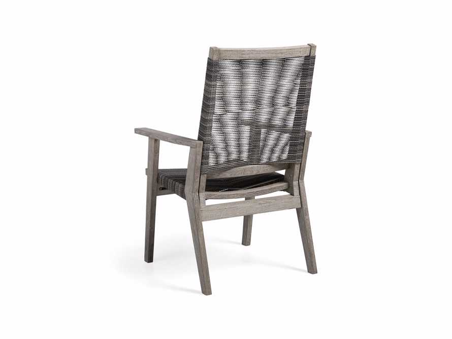 "Tulum Outdoor 26"" Dining Arm Chair in Charcoal, slide 6 of 9"