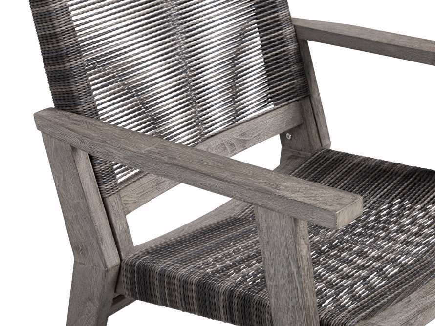 "Tulum Outdoor 26"" Dining Arm Chair in Charcoal, slide 8 of 9"