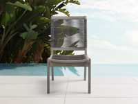 "Tulum Outdoor 22"" Dining Side Chair in Charcoal"