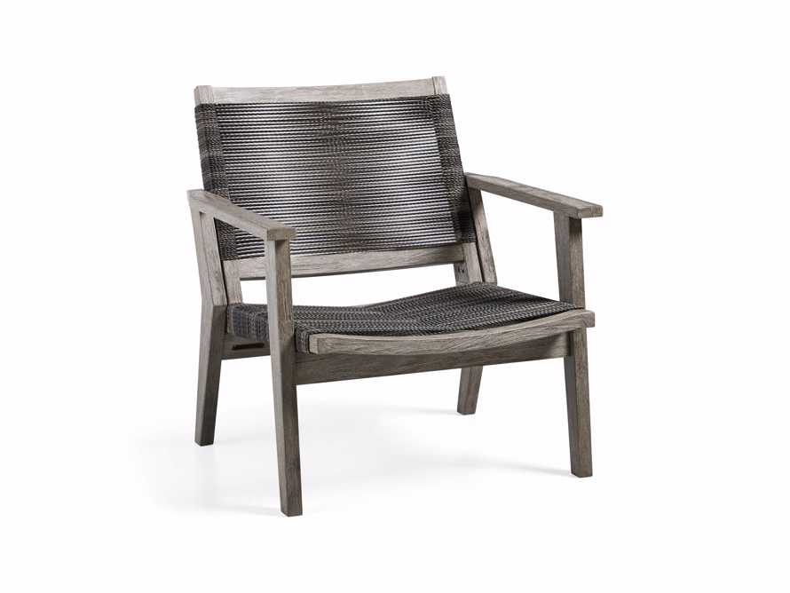 """Tulum 31"""" Lounge Chair in Driftwood Grey/Charcoal, slide 3 of 8"""