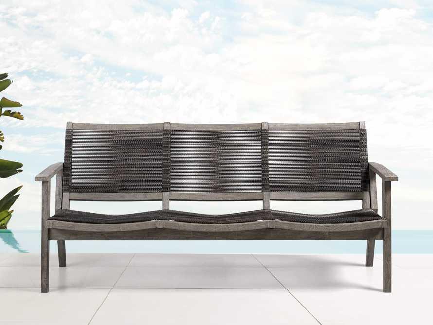 "Tulum 72"" Sofa in Driftwood Grey/Charcoal, slide 1 of 8"