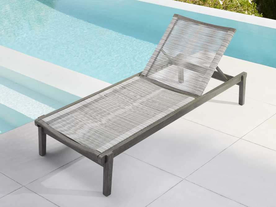 "Tulum Outdoor 32"" Chaise in White, slide 1 of 6"