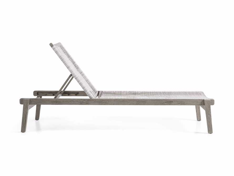 "Tulum Outdoor 32"" Chaise in White, slide 3 of 6"