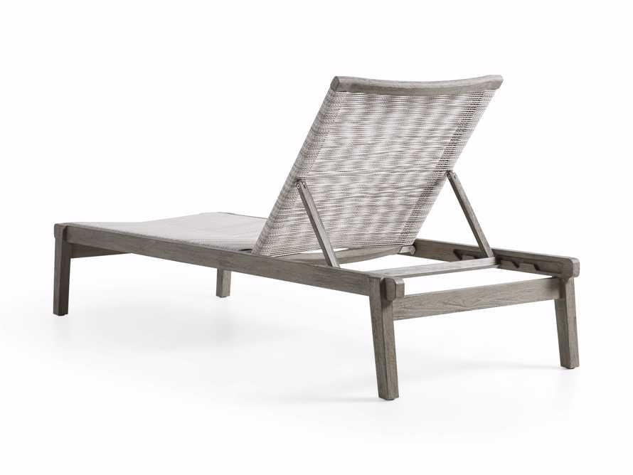 "Tulum Outdoor 32"" Chaise in White, slide 5 of 6"