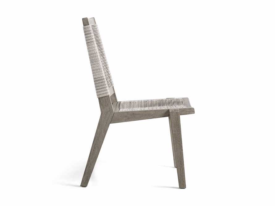 """Tulum Outdoor 22"""" Dining Side Chair in White"""