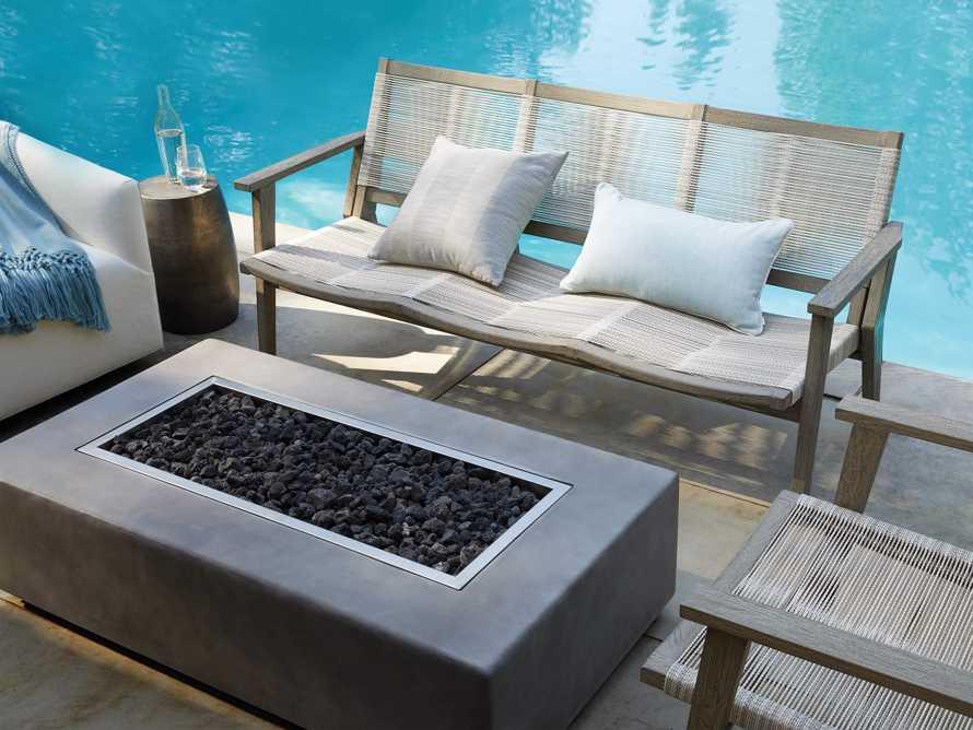 """Tulum Outdoor 73"""" Sofa in White, slide 8 of 8"""