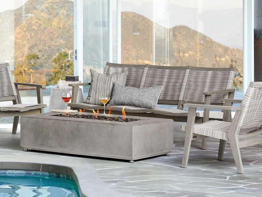 """Tulum Outdoor 73"""" Sofa in White, slide 7 of 8"""