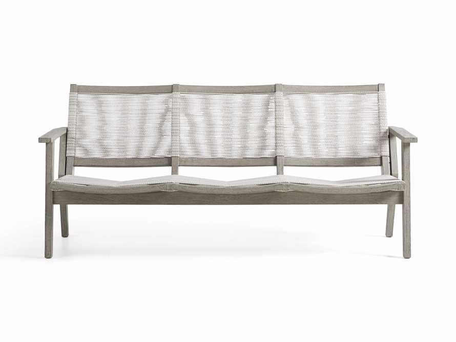 """Tulum Outdoor 73"""" Sofa in White, slide 3 of 8"""