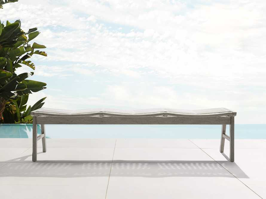 "Tulum Outdoor 72"" Dining Bench in White, slide 1 of 5"