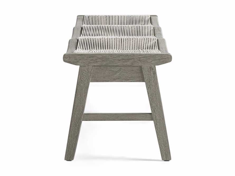 """Tulum Outdoor 72"""" Dining Bench in White, slide 3 of 5"""