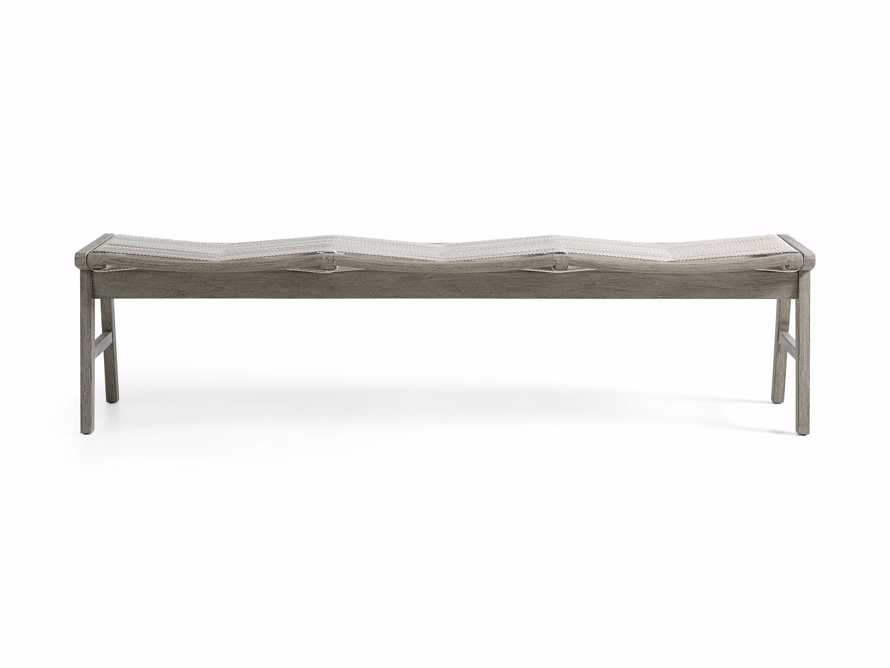 "Tulum Outdoor 72"" Dining Bench in White, slide 2 of 5"