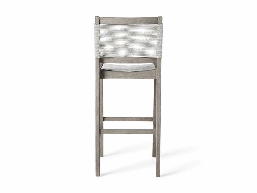 "Tulum Outdoor 18.25"" Barstool in Driftwood Grey/white, slide 5 of 5"