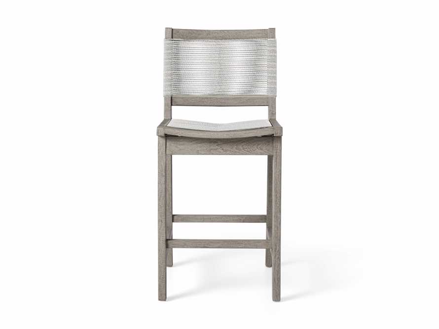 """Tulum Outdoor 18.25"""" Counter Stool in Driftwood Grey/White, slide 2 of 5"""