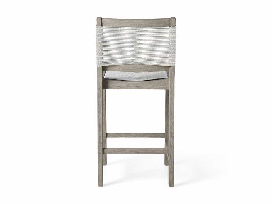 """Tulum Outdoor 18.25"""" Counter Stool in Driftwood Grey/White, slide 5 of 5"""