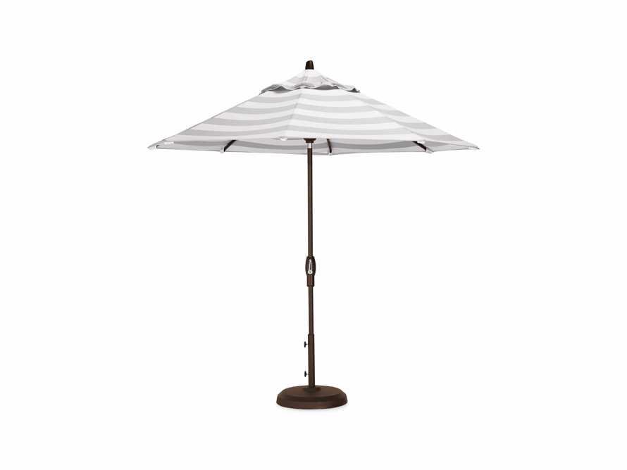 Umbrellas Outdoor 9' x 10' Octagon Umbrella in Solana Seagull, slide 2 of 4