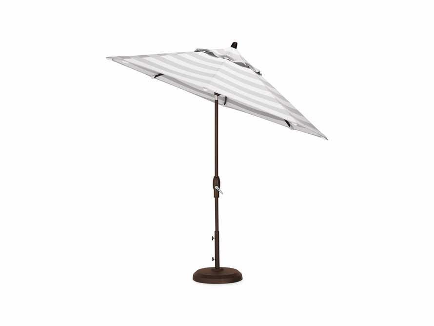 Umbrellas Outdoor 9' x 10' Octagon Umbrella in Solana Seagull, slide 3 of 4