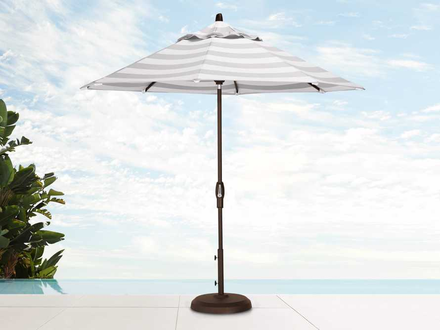 Umbrellas Outdoor 9' x 10' Octagon Umbrella in Solana Seagull, slide 1 of 4