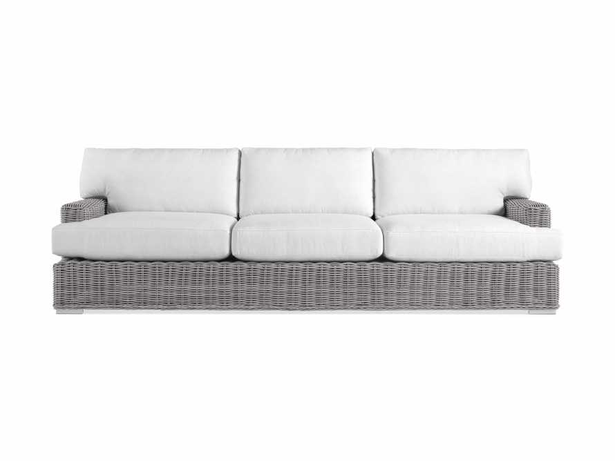 "Wyatt Outdoor 108"" Sofa in Vista Grey, slide 2 of 2"