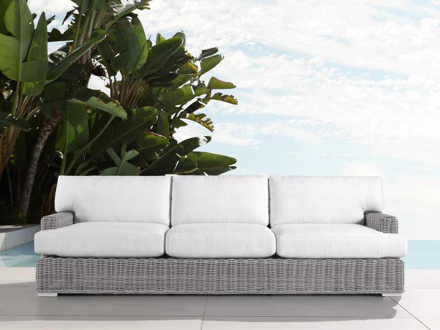 "Wyatt Outdoor 108"" Sofa in Vista Grey, slide 1 of 2"