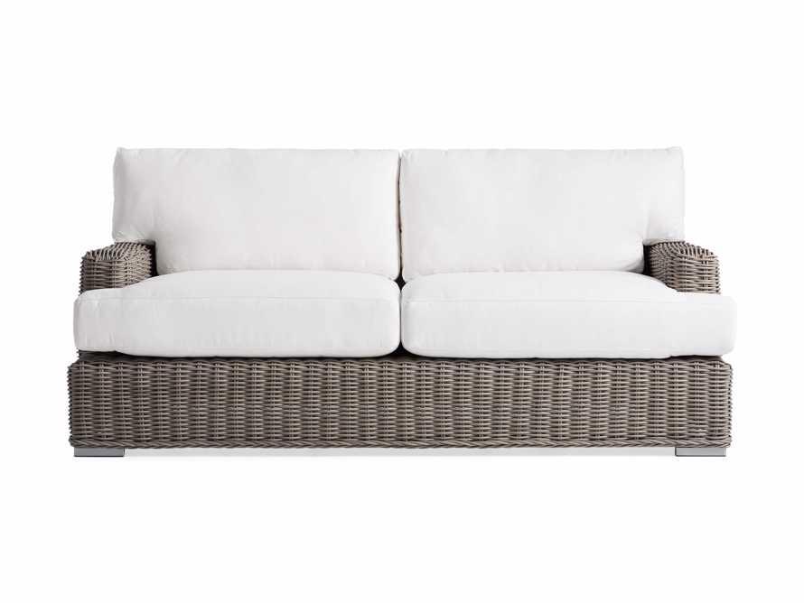 """Wyatt Outdoor 76"""" Sofa in Weathered Grey, slide 2 of 4"""