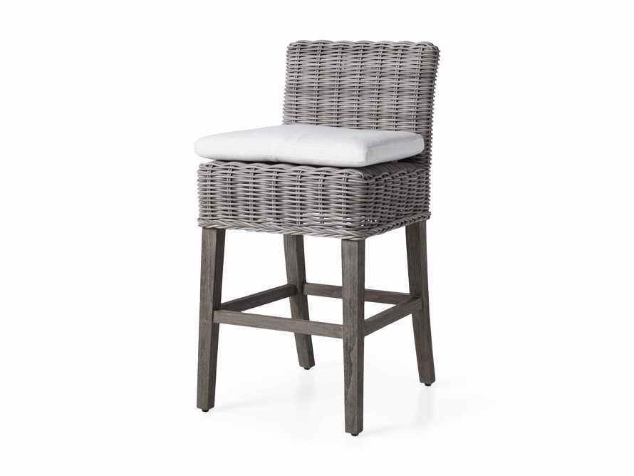 "Wyatt Outdoor 24"" Barstool in Vista Grey, slide 3 of 6"