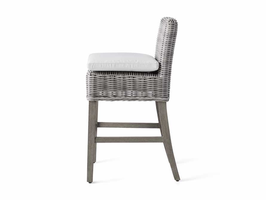 "Wyatt Outdoor 24"" Barstool in Vista Grey, slide 4 of 6"