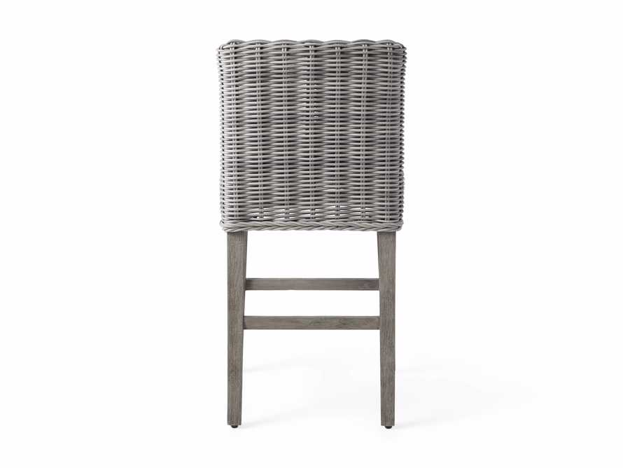 "Wyatt Outdoor 24"" Barstool in Vista Grey, slide 5 of 6"