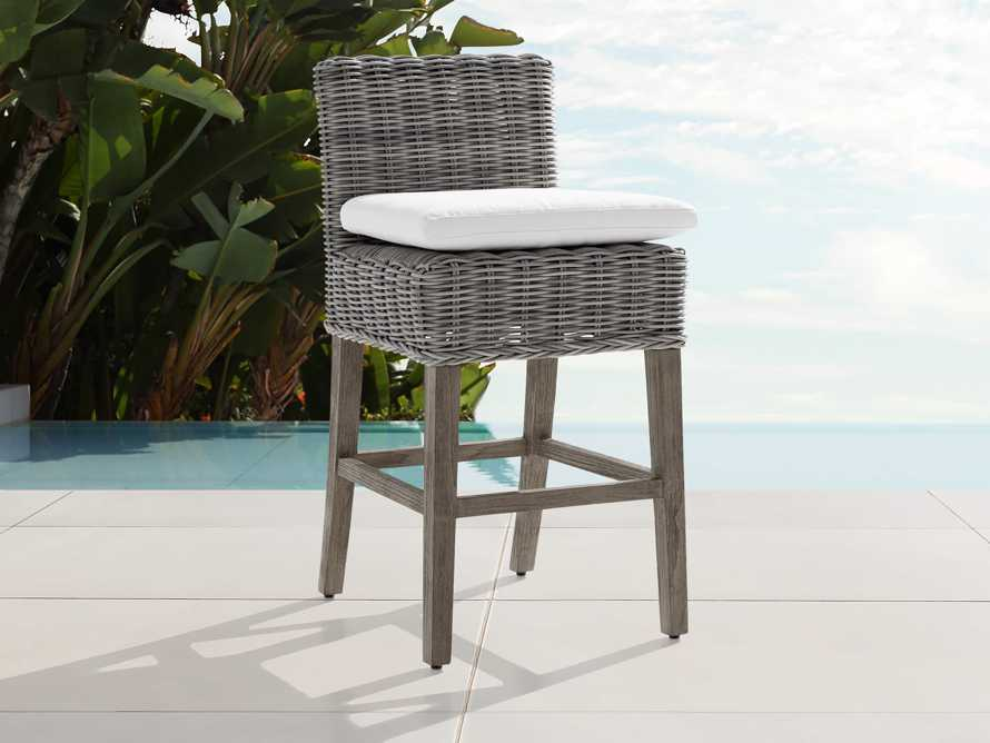 "Wyatt Outdoor 24"" Barstool in Vista Grey, slide 1 of 6"