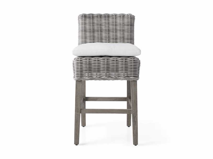 "Wyatt Outdoor 24"" Barstool in Vista Grey, slide 2 of 6"