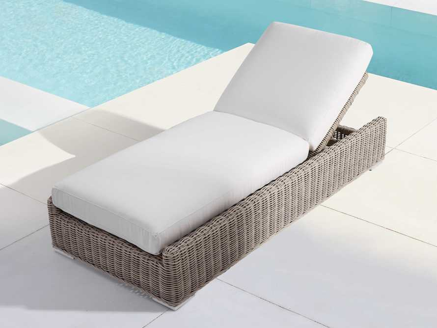 """Wyatt Outdoor 35"""" Chaise in Weathered Grey, slide 1 of 6"""