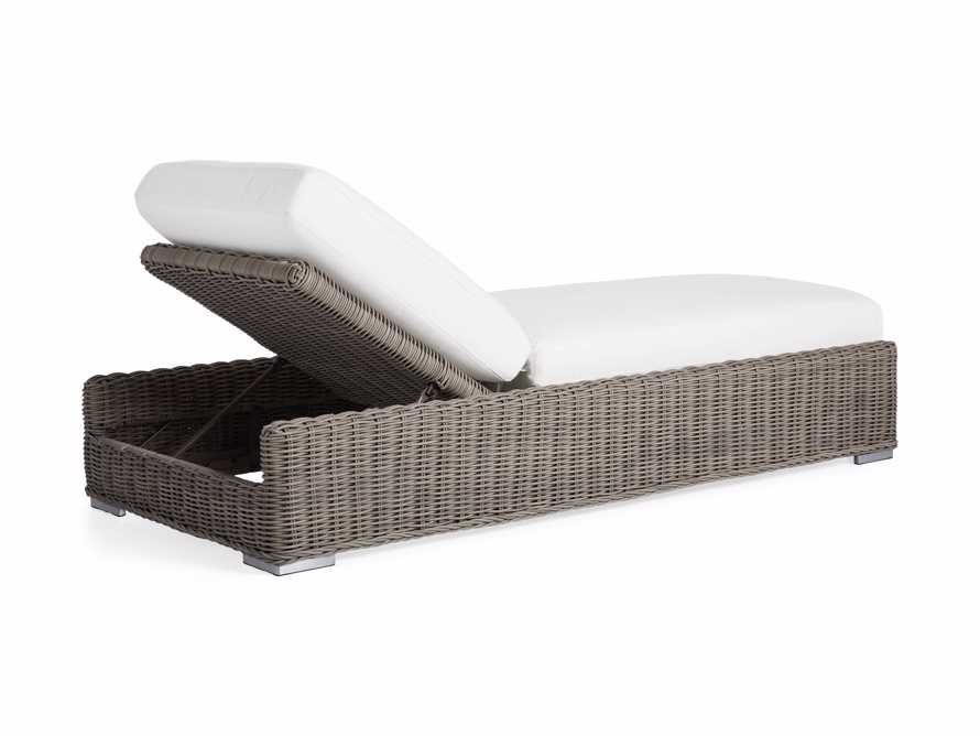 """Wyatt Outdoor 35"""" Chaise in Weathered Grey, slide 4 of 6"""