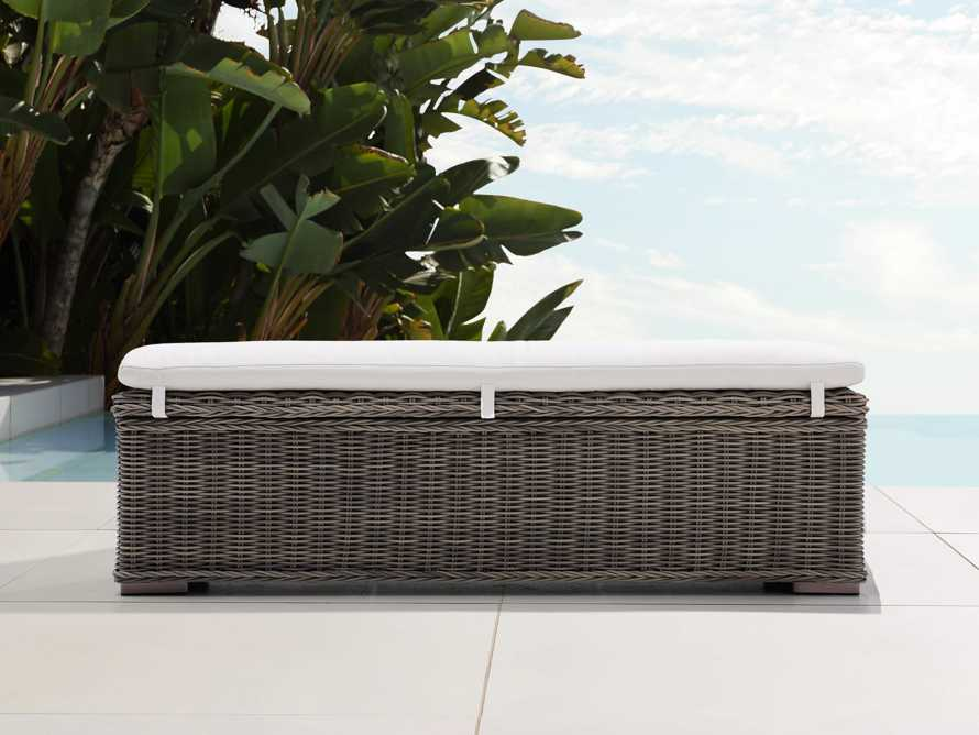 "Wyatt Outdoor 66"" Storage Bench in Dry Bark, slide 1 of 6"