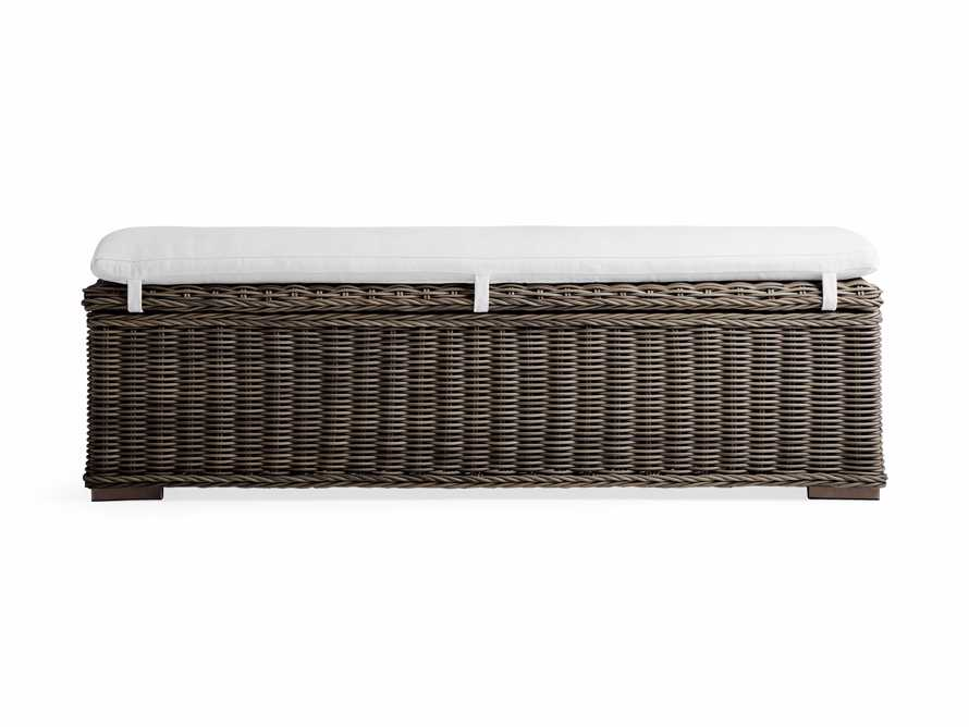 "Wyatt Outdoor 66"" Storage Bench in Dry Bark, slide 3 of 6"
