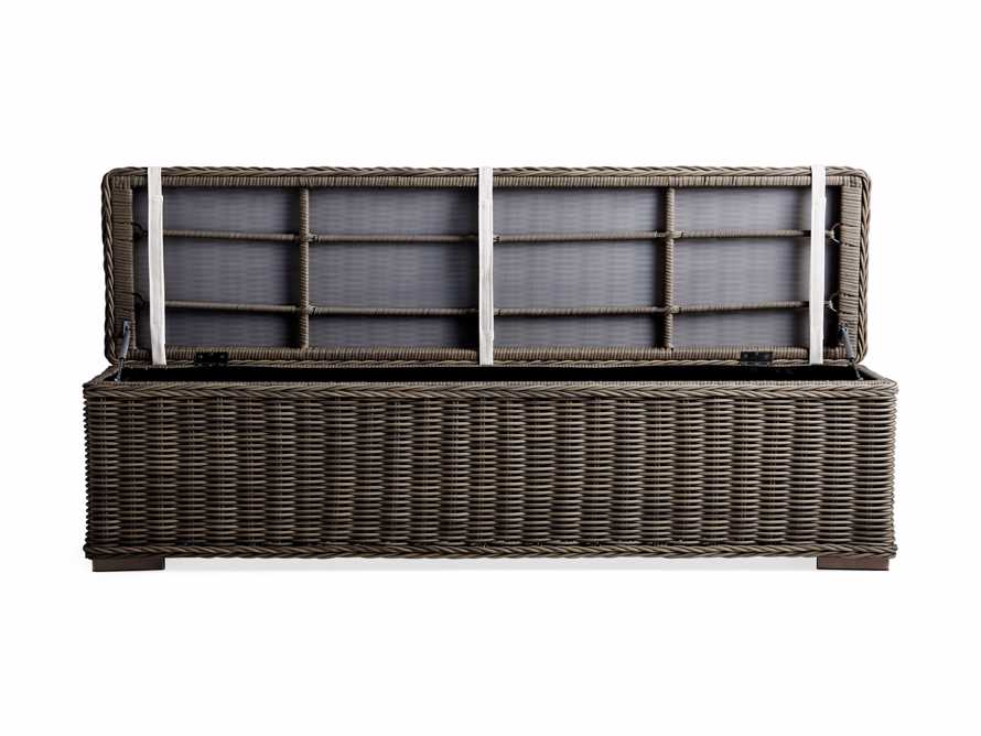 "Wyatt Outdoor 66"" Storage Bench in Dry Bark, slide 2 of 6"
