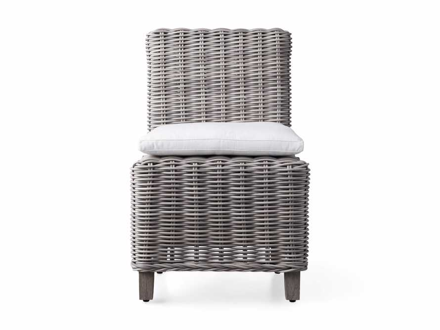 "Wyatt Outdoor Upholstered 24"" Dining Side Chair Vista Grey, slide 2 of 2"