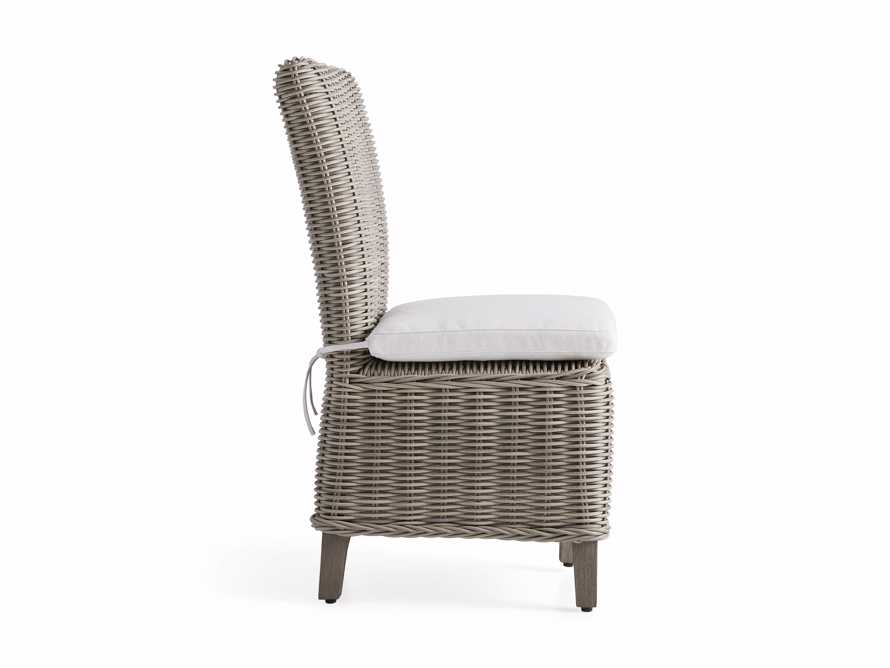 """Wyatt Outdoor 21.75"""" Dining Side Chair in Weathered Grey, slide 3 of 5"""