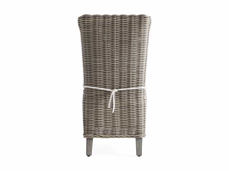 """Wyatt Outdoor 21.75"""" Dining Side Chair in Weathered Grey, slide 4 of 5"""
