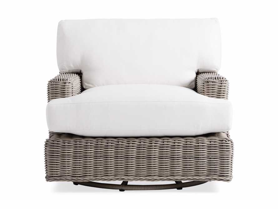 "Wyatt Outdoor 40"" Swivel Lounge Chair in Weathered Grey, slide 2 of 5"