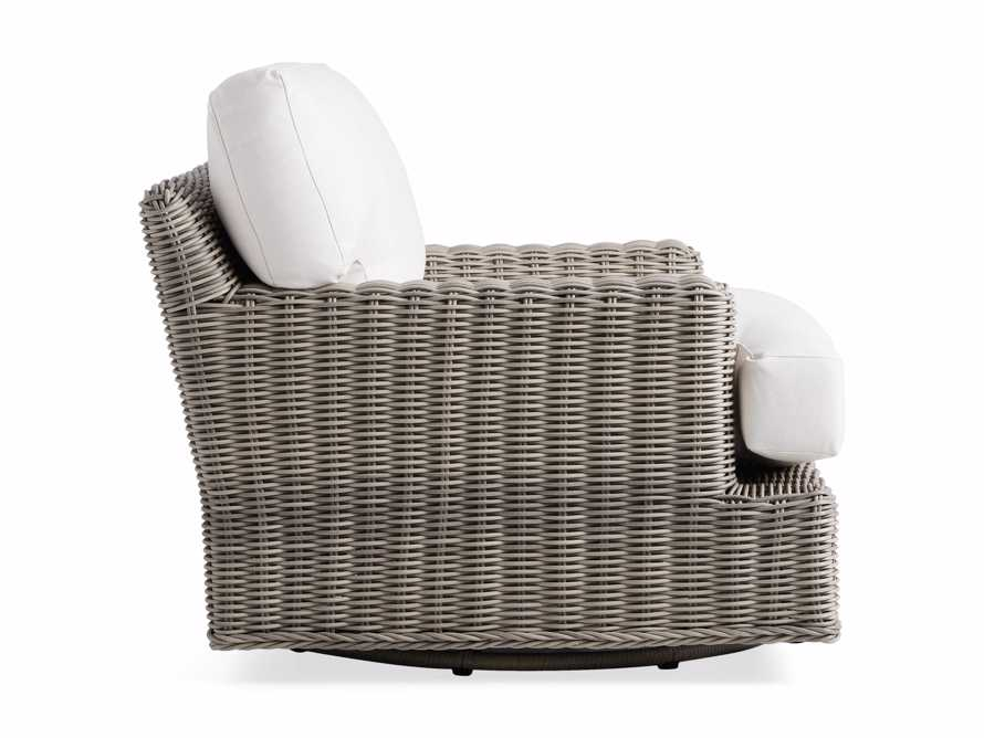 "Wyatt Outdoor 40"" Swivel Lounge Chair in Weathered Grey, slide 3 of 5"