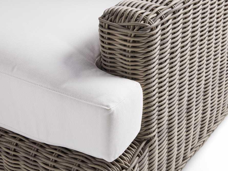 "Wyatt Outdoor 40"" Swivel Lounge Chair in Weathered Grey, slide 5 of 5"