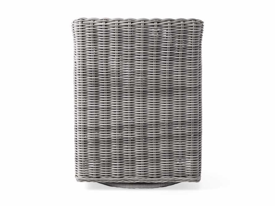 "Wyatt Outdoor Upholstered 27"" Dining Arm Chair in Vista Grey, slide 5 of 5"
