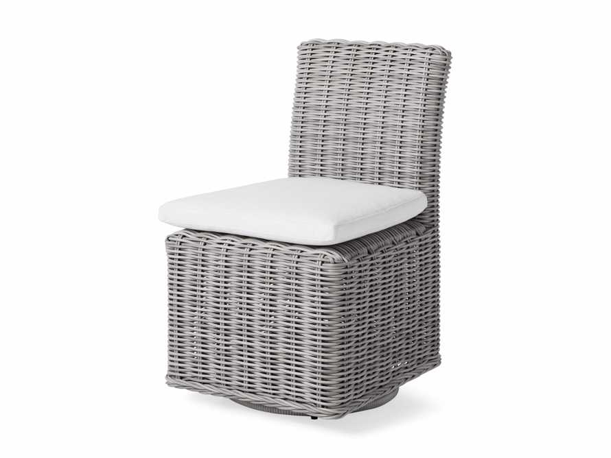 "Wyatt Outdoor 20.5"" Dining Side Chair in Vista Grey, slide 3 of 5"