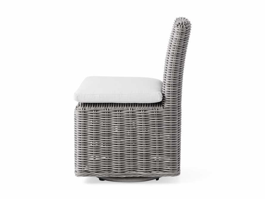 "Wyatt Outdoor 20.5"" Dining Side Chair in Vista Grey, slide 4 of 5"
