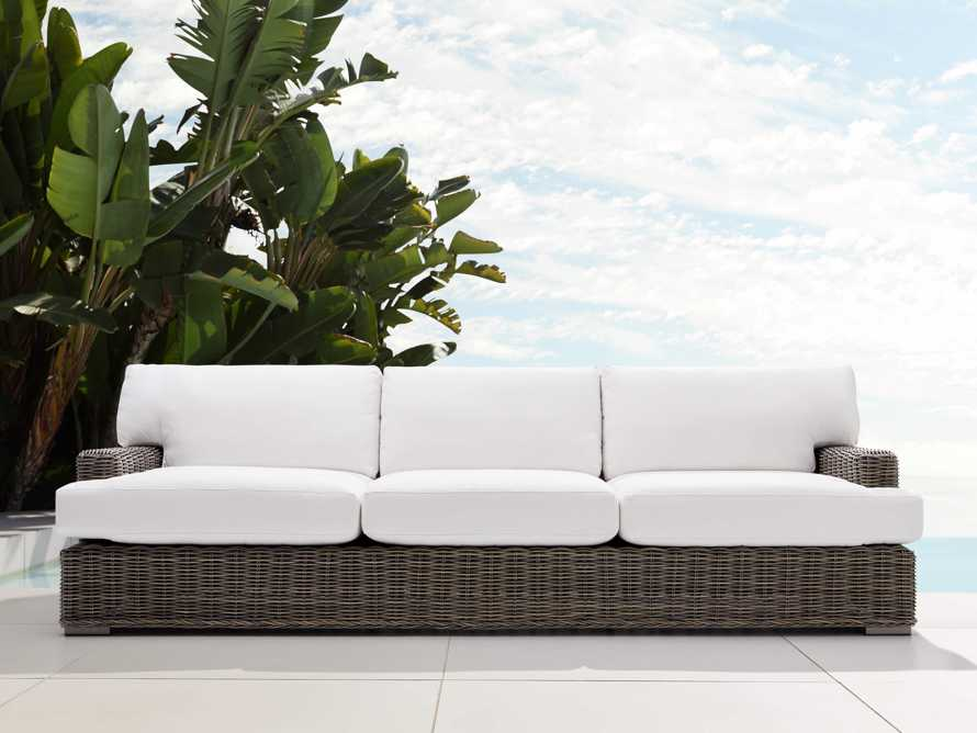 "Wyatt Outdoor 108"" Sofa in Dry Bark, slide 1 of 5"