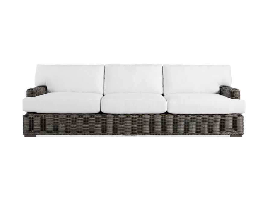 "Wyatt Outdoor 108"" Sofa in Dry Bark, slide 2 of 5"