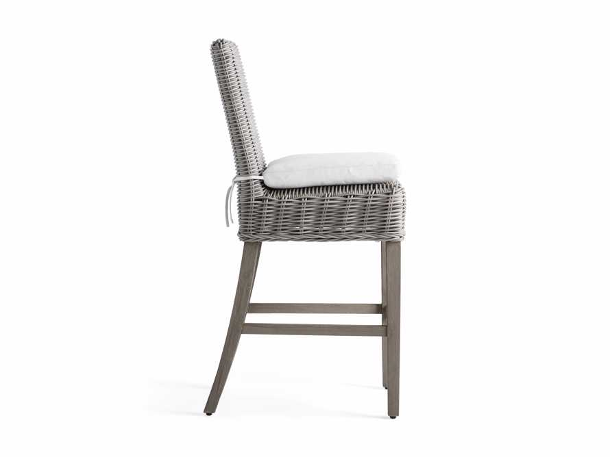 "Wyatt Outdoor 20"" Barstool in Vista Grey, slide 3 of 5"